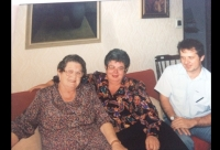 Mrs. Alžbeta (right) with her mother, 1990s.
