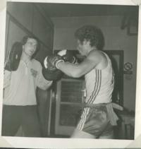 Tibor Puha na tréningu.