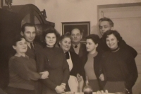 Vasil Timkovic with his family, his mother, his brother and sisters in Zakarpattian Ukraine