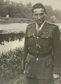 Vasil Timkovic in a war uniform at the end of the war