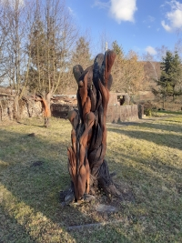 A work of Josef Musil exhibited in the garden of the Gallery, circa 1999