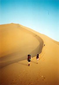 Jeden z prvních zájezdů CK Turistika a Hory na Saharu, počátek 90. let