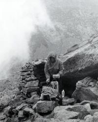 Bivakování ve Zlomiskové dolině, Vysoké Tatry, polovina 70. let