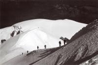 Výstup na Mont Blanc, zájezd CK Turistika a Hory, počátek 90. let
