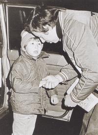 František Kaberle starší se synem Františkem v druhé polovině 70. let 20. století