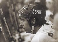František Kaberle starší v reprezentačním dresu ve slavné éře 1976, 1977