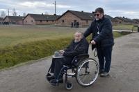 Vladimír Munk po 75 letech v táboře Auschwitz-Birkenau