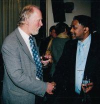 With South African ambassador in Prague in 2003