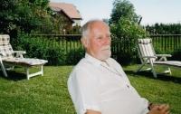 Otakar Hulec in the cottage