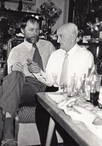 With uncle Jaroslav