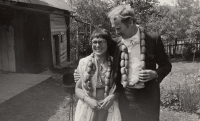 Second wedding in Sychrov in 1971