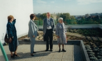 Discussion with students, Grammar school in Holice in 2000