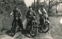 Zdeněk Doležal (right) on a trip at Ronov castle, circa 1958