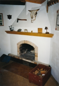 Fireplace in the building of the Bludov Scout troop