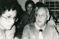 Stanislav Balík with one of the founders of Scouting in Bludov, 1990s