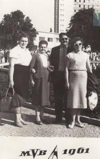 Family picture - from the left: Jaroslava Blešová, mother Emilie Zlámalová, uncle Jan Urban and his wife
