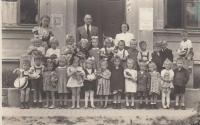 Jaroslava Blešová in nusery school (bottom row, fifth from the left)