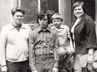 With husband Miloš and sons Přemysl and Tomáš in 1978