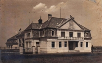Historic picture of the Sokol organization headquarters in Brodek near Prostějov