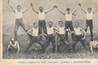 Sokol practitioners - uncle Rudolf Zlámal in the upper row, second from the right