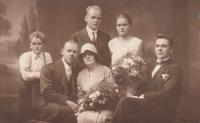 Wedding picture of Jaroslava's adoptive parents Čeněk and Emilie Zlámalovi, 1930