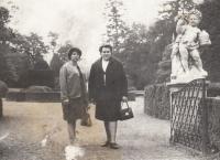 Jaroslava Blešová (on the right) with Ludmila Ivanová, her penfriend