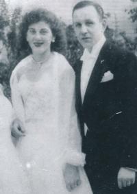 Stanislava and Eduard Císař in 1957