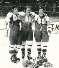 Bohuslav Šťastný, Jiří Novák and Vladimír Martinec (from left) created an offensive trio that became one of the legends of Czechoslovak and world hockey