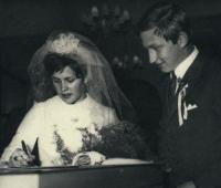 Vladimír Martinec at his wedding photo in 1969