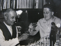 Jiří Lang with his friends
