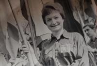 Jaroslava Jesenská na Prvního máje roku 1963