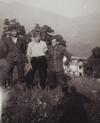 Antonín Daněk in a work camp of the government forces, early 1940s