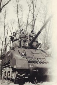 Antonín Daněk with the Italian partisans, 1944