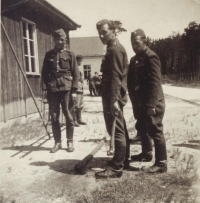 Antonín Daněk with his tank crew near Dunkerque, circa 1944
