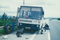 Zájezdy CK Turistika a Hory autobusem Karosa, počátek 90. let