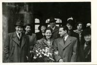 Svatební foto Vladimíra a Kitty Munkových v roce 1949