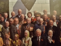 Veterans of the Mlynov district, witness in the middle