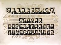 Státní hospodyňská škola v Chrudimi, Jarmila Bartošíková druhá zleva v druhé řadě odspoda, 1948/1949