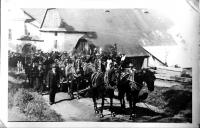 Pohřeb otce Františka Dvořáka, srpen 1937