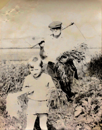 František Musil s vnučkou Dagmar