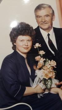 Míla a Zdislav Chalupovi, svatba v červnu 1986, Míla je druhou Zdislavovou manželkou