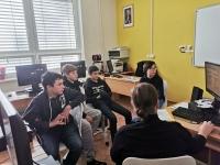 Žákovský tým na workshopu