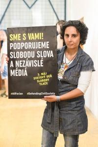 Activist and journalist Denisa Havrlova