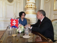 Denisa Havrľová with former president Andrej Kiska