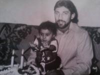 Denisa Havrľová with her father