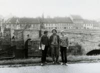 Ivan M. Havel a jeho synové Vojtěch a Prokop kolem roku 1990
