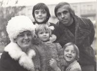 The Kalina family, from top left - his son Tomáš, Ivan, wife Božena, daughter Andrea and son Igor, Zlín / Gottwaldov, circa 1976