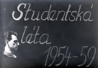 Keepsake from her studies at the school of education in Ostrava