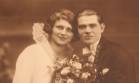 Wedding photograph of the Seidl husbands