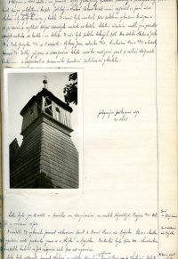 Contemporary photo of the damaged tower in 1945